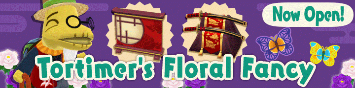 Tortimer's Floral Fancy Has Started!
